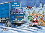 Christmas Hitch Hikers Blue